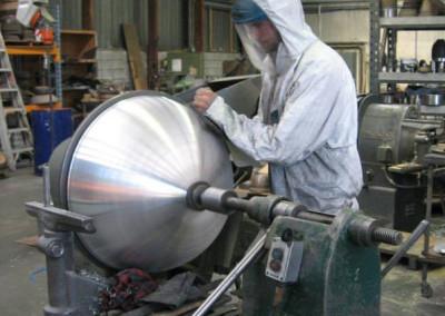 Sanding Aluminium Hemisphere